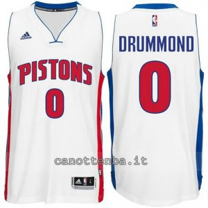 maglia andre drummond #0 detroit pistons bianca