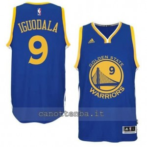 maglia andre iguodala #9 golden state warriors 2014-2015 blu