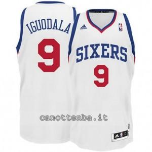maglia andre iguodala #9 philadelphia 76ers revolution 30 bianca