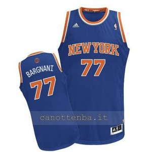 maglia andrea bargnani #77 new york knicks revolution 30 blu