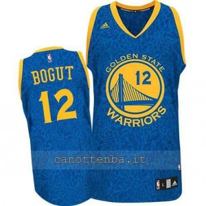 maglia andrew bogut #12 golden state warriors leopard