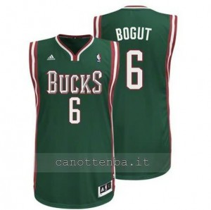 maglia andrew bogut #6 milwaukee bucks revolution 30 verde