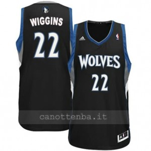 maglia andrew wiggins #22 minnesota timberwolves revolution 30 nero