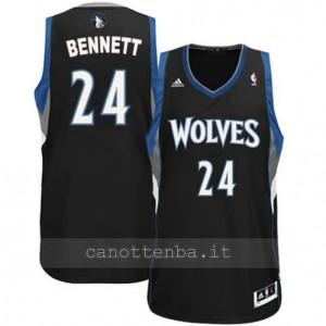 maglia anthony bennett #24 minnesota timberwolves revolution 30 nero