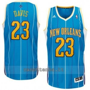 maglia anthony davis #23 new orleans hornets revolution 30 blu