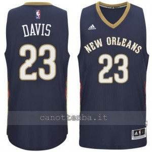 maglia anthony davis #23 new orleans pelicans 2014-2015 blu