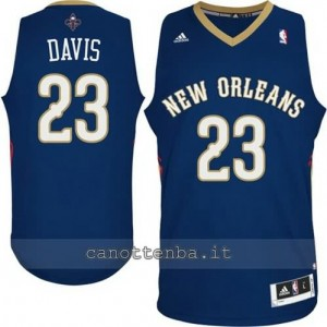 maglia anthony davis #23 new orleans pelicans navy blu