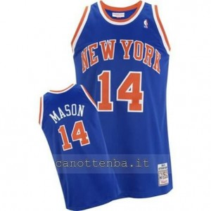 maglia anthony mason #14 new york knicks blu