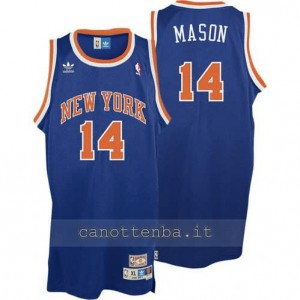 maglia anthony mason #14 new york knicks soul blu