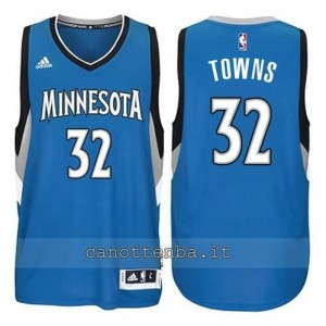 maglia anthony towns #32 minnesota timberwolves blu