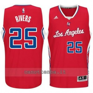 maglia austin rivers #25 los angeles clippers 2014-2015 rosso