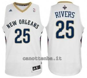 maglia austin rivers #25 new orleans pelicans revolution 30 bianca