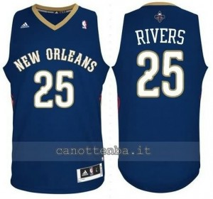 maglia austin rivers #25 new orleans pelicans revolution 30 blu