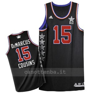 maglia basket DeMarcus cousins #15 nba all star 2015 nero