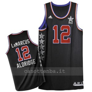 maglia basket LaMarcus aldridge #12 nba all star 2015 nero