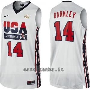 maglia basket charles barkley #14 nba usa 1992 bianca