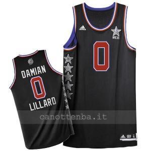 maglia basket damian lillard #0 nba all star 2015 nero