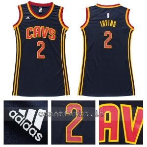 maglia basket donna kyrie irving #2 cleveland cavaliers navy blu