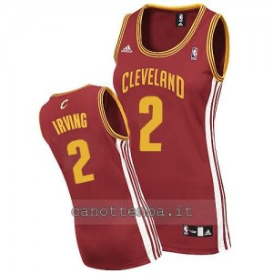 maglia basket donna kyrie irving #2 cleveland cavaliers rosso