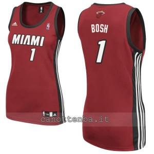 maglia basket donna miami heat chris bosh #1 rosso