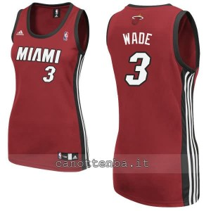 maglia basket donna miami heat dwyane wade #3 rosso