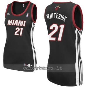 maglia basket donna miami heat hassan whiteside #21 nero