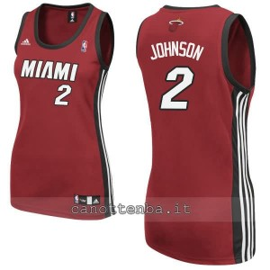 maglia basket donna miami heat joe johnson #2 rosso