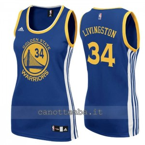 maglia basket donna shaun livingston #34 golden state warriors blu