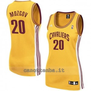 maglia basket donna timofey mozgov #20 cleveland cavaliers giallo