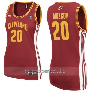 maglia basket donna timofey mozgov #20 cleveland cavaliers rosso