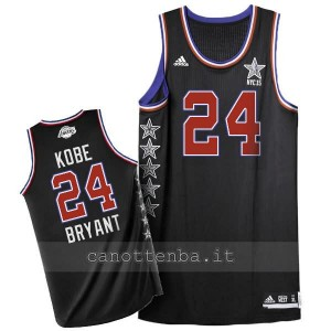 maglia basket kobe bryant #24 nba all star 2015 nero