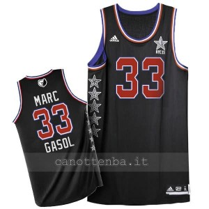 maglia basket marc gasol #33 nba all star 2015 nero