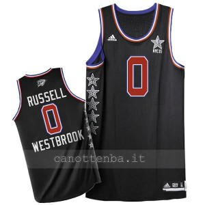 maglia basket russell westbrook #0 nba all star 2015 nero