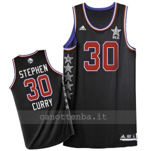 maglia basket stephen curry #30 nba all star 2015 nero