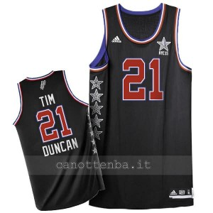 maglia basket tim duncan #21 nba all star 2015 nero