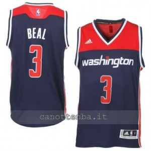maglia bradley beal #3 washington wizards 2014-2015 blu