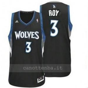 maglia brandon roy #3 minnesota timberwolves revolution 30 nero