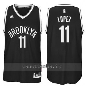 maglia brook lopez #11 brooklyn nets revolution 30 nero