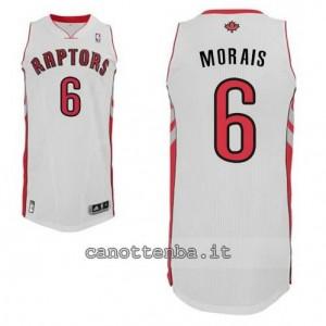 maglia carlos morais #6 toronto raptors revolution 30 bianca