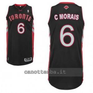 maglia carlos morais #6 toronto raptors revolution 30 nero