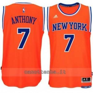 maglia carmelo anthony #7 new york knicks 2014-2015 arancia