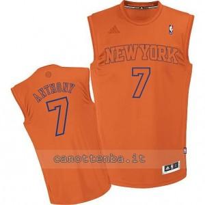 maglia carmelo anthony #7 new york knicks moda arancia