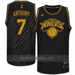 maglia carmelo anthony #7 new york knicks moda nero