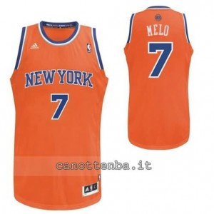 maglia carmelo anthony #7 new york knicks revolution 30 arancia
