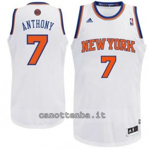 maglia carmelo anthony #7 new york knicks revolution 30 bianca