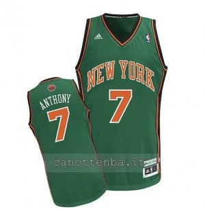 maglia carmelo anthony #7 new york knicks verde
