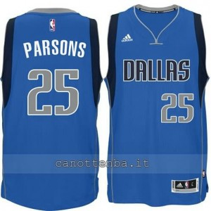 maglia chandler parsons #25 dallas mavericks 2014-2015 blu