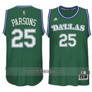 maglia chandler parsons #25 dallas mavericks classico verde