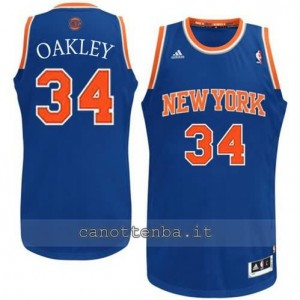 maglia charles oakley #34 new york knicks revolution 30 blu