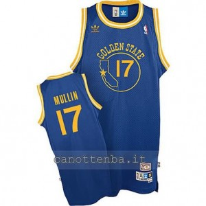 maglia chris mullin #17 golden state warriors soul blu